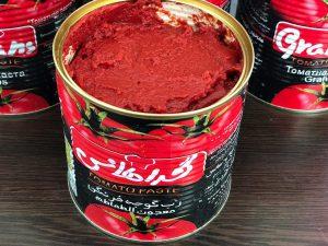تولید رب گوجه قوطی