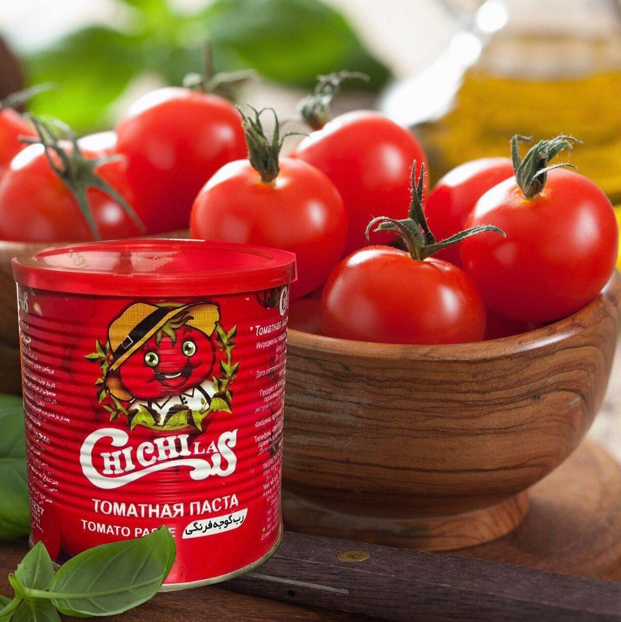 تولید رب گوجه فرنگی 800 گرمی قوطی چی چی لاس