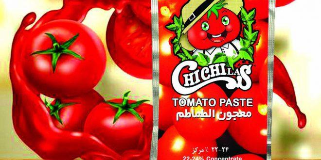 بسته بندی ساشه رب گوجه فرنگی چی چی لاس