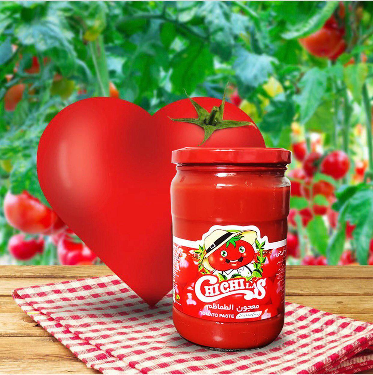 بسته بندی شیشه رب گوجه چی چی لاس