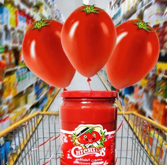 بسته بندی های مختلف رب گوجه چی چی لاس