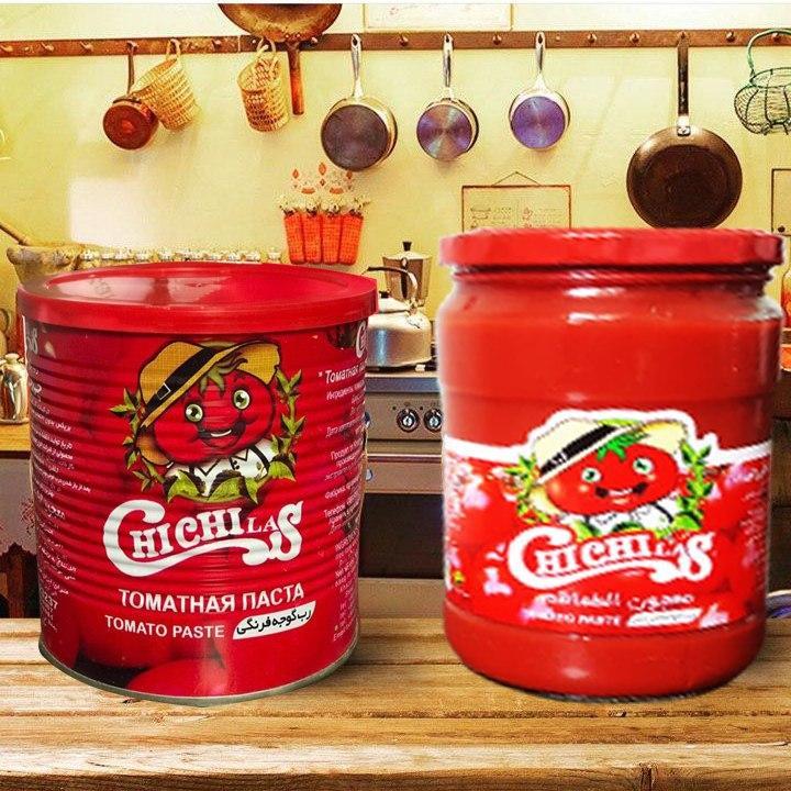 رب گوجه فرنگی با بسته بندی قوطی