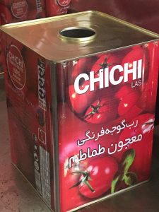 رب گوجه فرنگی با بسته بندی 17 کیلویی چی چی لاس