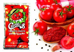 رب گوجه درجه یک با بسته بندی ساشه