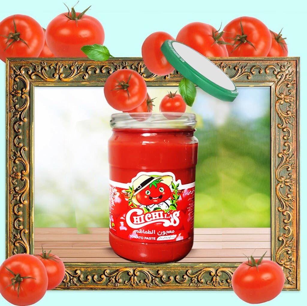 رب گوجه فرنگی شیشه 1550 گرم چی چی لاس