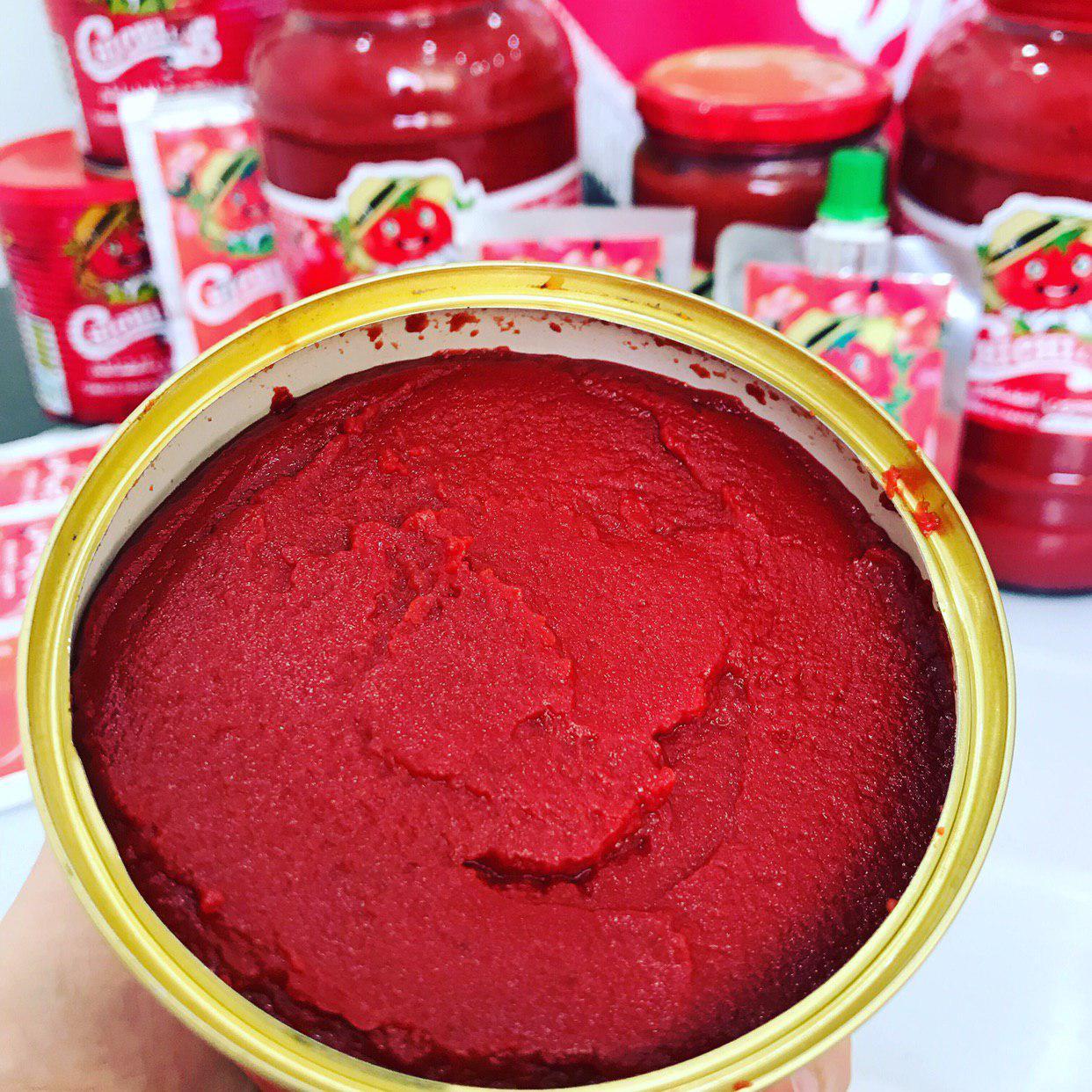رب گوجه فرنگی ایزی اپن با درپوش پلاستیکی چی چی لاس